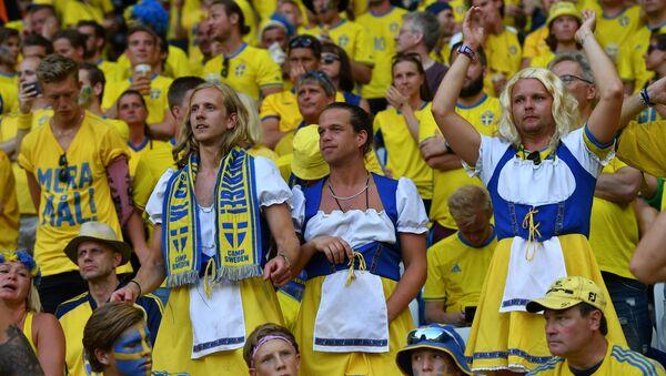 Шведские болельщики, архивное фото - Sputnik Беларусь