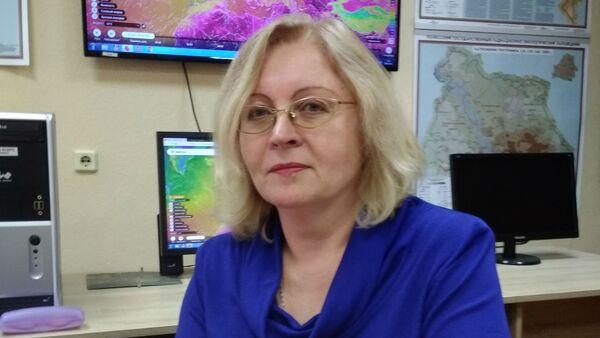 Начальник отдела реагирования на чрезвычайные ситуации Гидрометцентра Беларуси Алла Шайбак - Sputnik Беларусь