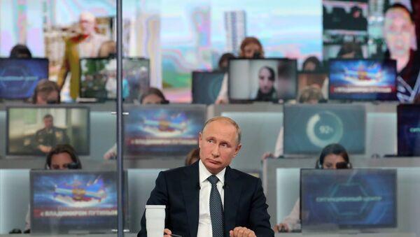 Прямая линия с президентом России Владимиром Путиным - Sputnik Беларусь