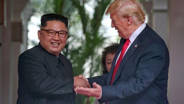 Встреча Ким Чен Ына и Дональда Трампа - Sputnik Беларусь