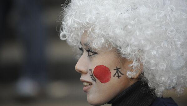 Болельщица сборной Японии, архивное фото - Sputnik Беларусь