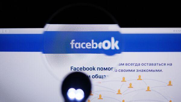 Страница социальной сети Фейсбук на экране компьютера - Sputnik Беларусь
