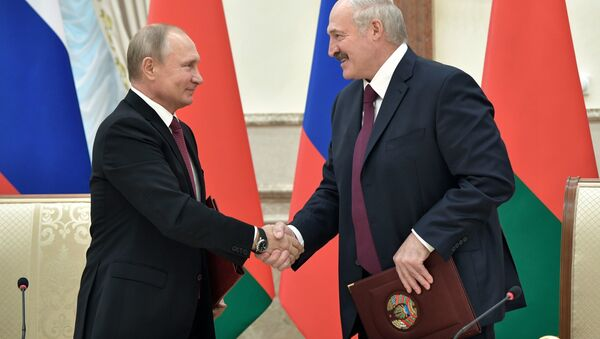 Президент РФ Владимир Путин и президент Беларуси Александр Лукашенко - Sputnik Беларусь