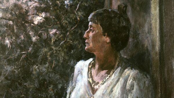 Портрет Анны Ахматовой работы художника А.А. Осьмеркина, 1939 год - Sputnik Беларусь
