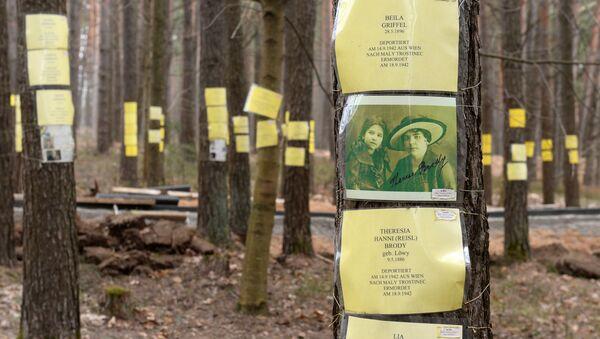 Таблічкі з імёнамі пахаваных у Благаўшчыне - Sputnik Беларусь