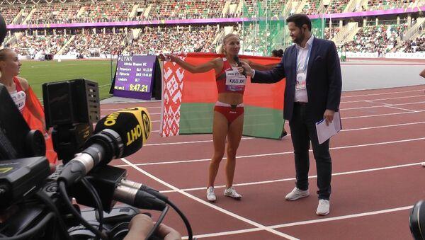 Первые старты и первые победы на обновленном стадионе Динамо - Sputnik Беларусь