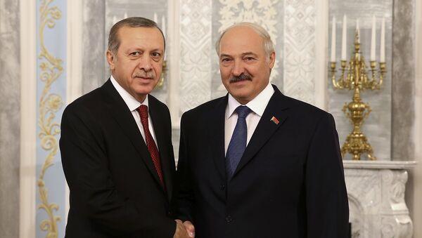 Президент Беларуси Александр Лукашенко и президент Турции Реджеп Эрдоган - Sputnik Беларусь