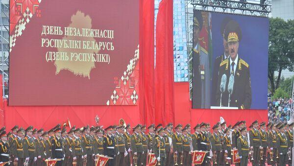 Падчас урачыстых мерапрыемстваў да беларусаў традыцыйна звярнуўся прэзідэнт Аляксандр Лукашэнка - Sputnik Беларусь