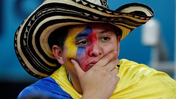 Болельщик сборной Колумбии на матче с Англией - Sputnik Беларусь
