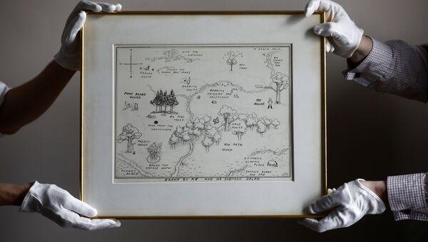 Карту леса, дзе жыў Віні Пух, прадалі на аўкцыёне Sotheby's - Sputnik Беларусь