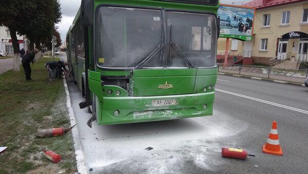 Автобус, горевший в Жлобине - Sputnik Беларусь