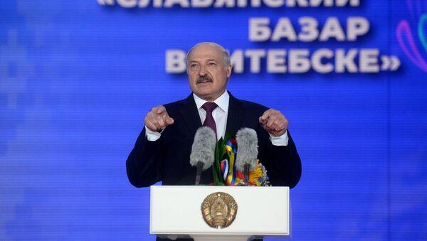 Президент Беларуси Александр Лукашенко на открытии фестиваля Славянский базар в Витебске - Sputnik Беларусь
