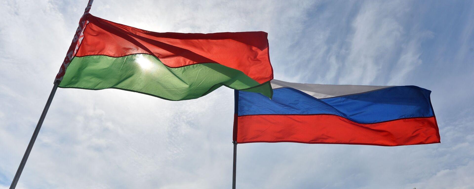 Флаги Беларуси и России на фестивале - Sputnik Беларусь, 1920, 13.09.2021
