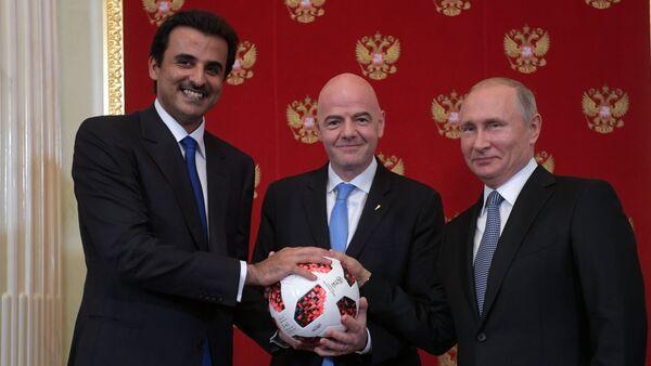 Президент РФ В. Путин принял участие в церемонии передачи Катару полномочий на проведение ЧМ-2022 по футболу - Sputnik Беларусь