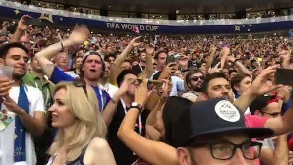 Видеофакт: болельщики в Лужниках радуются победе Франции - Sputnik Беларусь