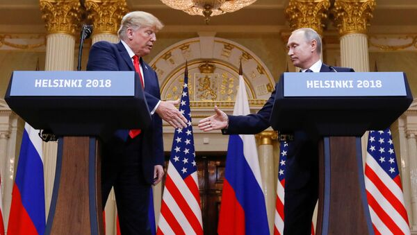 Дональд Трамп и Владимир Путин - Sputnik Беларусь