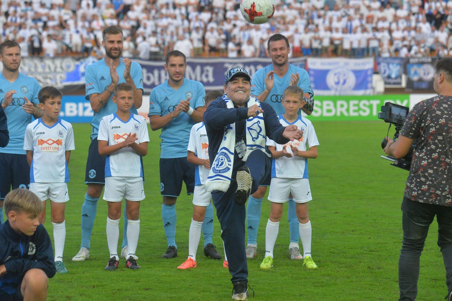 Футболист Диего Марадона впервые посетил Беларусь - Sputnik Беларусь, 1920, 24.09.2021