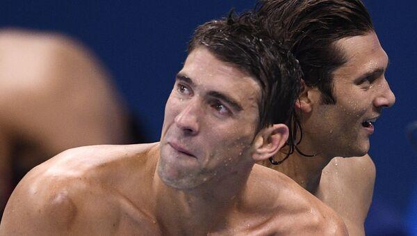Многократный олимпийский чемпион по плаванию Майкл Фелпс - Sputnik Беларусь