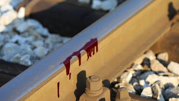 Кровь на рельсах, архивное фото - Sputnik Беларусь