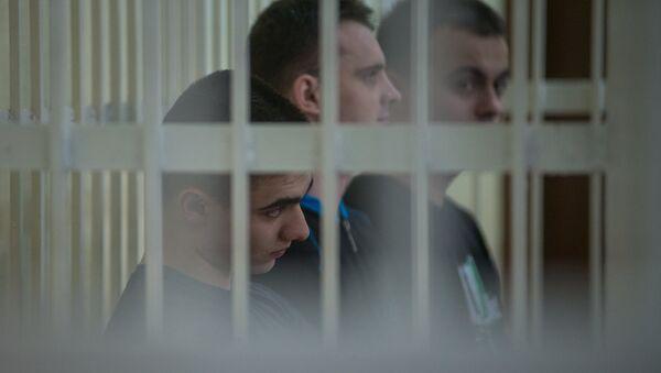 Обвиняемые в доведении до самоубийства солдата-срочника Александра Коржича  - Sputnik Беларусь