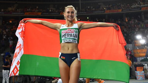 Эльвира Герман завоевала золото в беге на 100 метров - Sputnik Беларусь