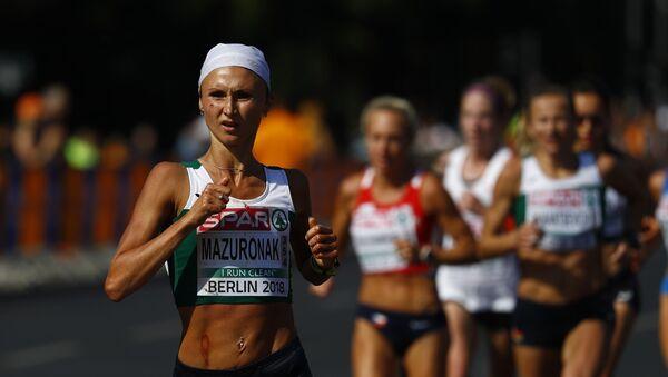 Белоруска Ольга Мазуренок на марафонской дистанции Чемпионата Европы по легкой атлетике в Берлине - Sputnik Беларусь