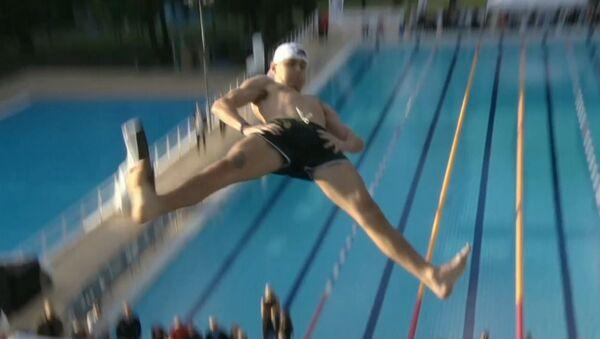 В Осло прошли соревнования по прыжкам в воду животом - Sputnik Беларусь