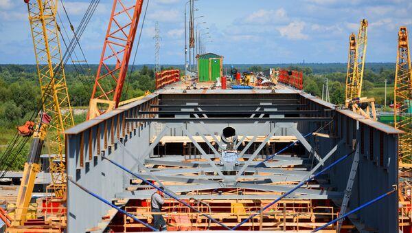 Рэканструкцыя моста ў Жыткавічах, архіўнае фота - Sputnik Беларусь