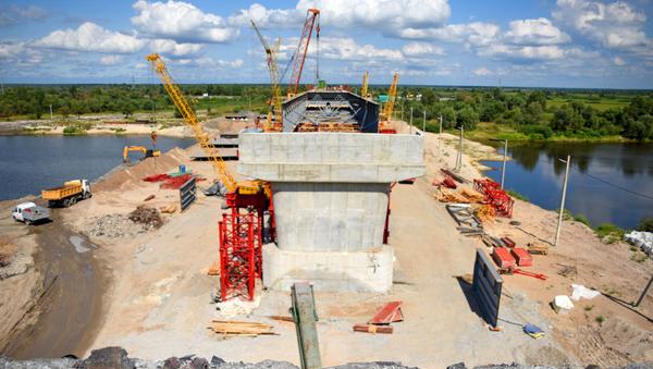 Аварийный мост между Житковичами и Туровом - Sputnik Беларусь