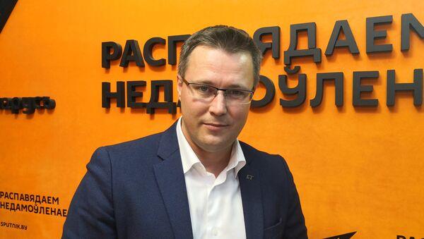 Политический обозреватель АТН Белтелерадиокомпании Андрей Кривошеев - Sputnik Беларусь