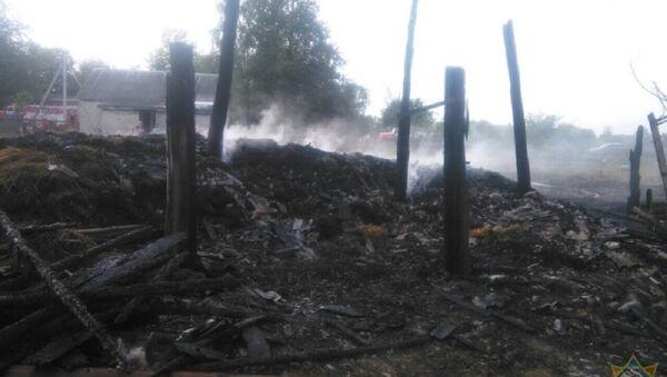 Последствия пожара в Ганцевичском районе - Sputnik Беларусь