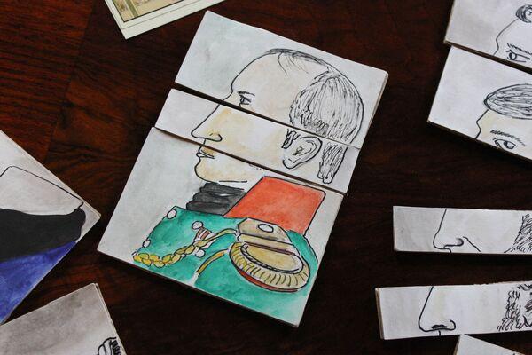 У гэтай, напрыклад, трэба было скласці з картак знаёмага кавалера - або мужчыну сваёй мары - Sputnik Беларусь
