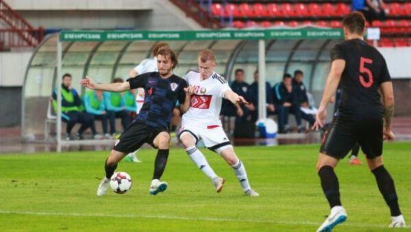 Молодежная сборная по футболу Беаруси проиграла хорватам - Sputnik Беларусь