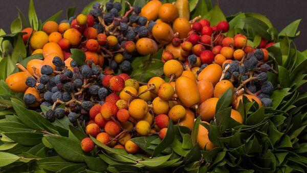 Осенний букет с фруктами - Sputnik Беларусь