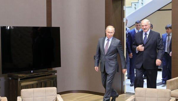 Сустрэча Уладзіміра Пуціна і Аляксандра Лукашэнкі ў Сочы - Sputnik Беларусь