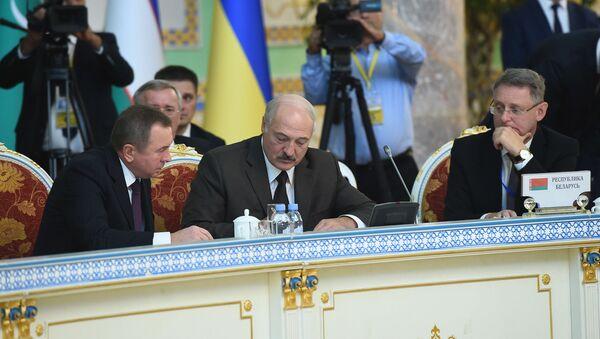 Президент Беларуси на заседании в Душанбе - Sputnik Беларусь