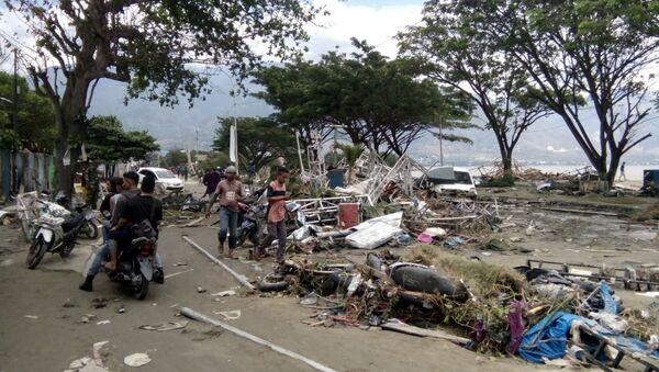 Последствия цунами в Индонезии - Sputnik Беларусь