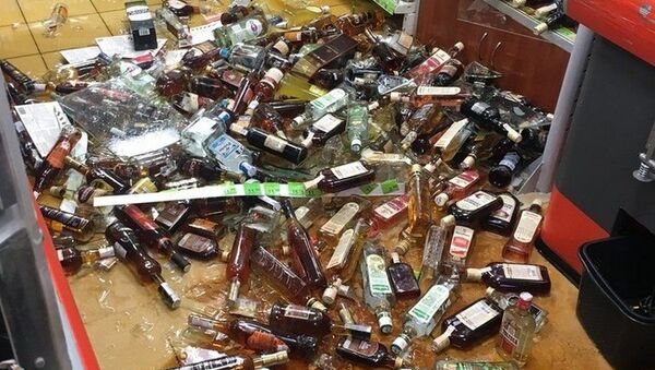 В Евроопте в Гомлее рухнул стеллаж с алкоголем - Sputnik Беларусь