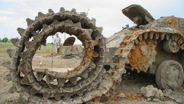 Танк часоў Вялікай Айчыннай вайны Т-70, архіўнае фота - Sputnik Беларусь