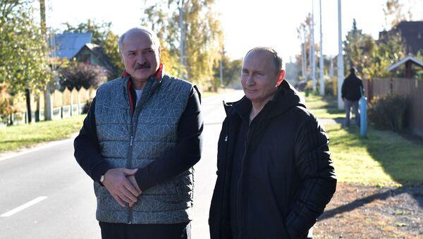 Президент РФ Владимир Путин и президент Республики Беларусь Александр Лукашенко - Sputnik Беларусь