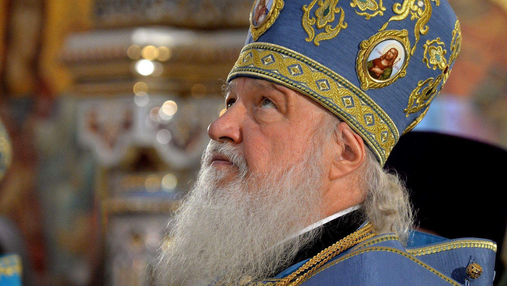 Патриарх Кирилл возглавил в новоосвященном храме первую Литургию - Sputnik Беларусь, 1920, 13.04.2021