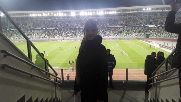 Болельщица Арина болеет за Беларусь на Динамо - Sputnik Беларусь