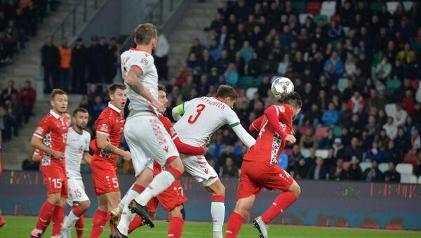 Игровой момент матча Беларусь - Молдова - Sputnik Беларусь