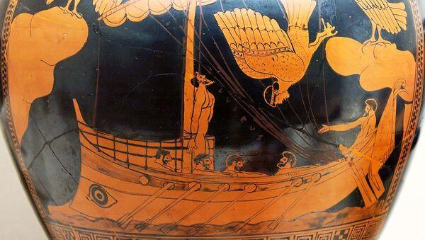 Ваза Siren Vase са збору Брытанскага музея з выявай карабля з Адысеем - Sputnik Беларусь