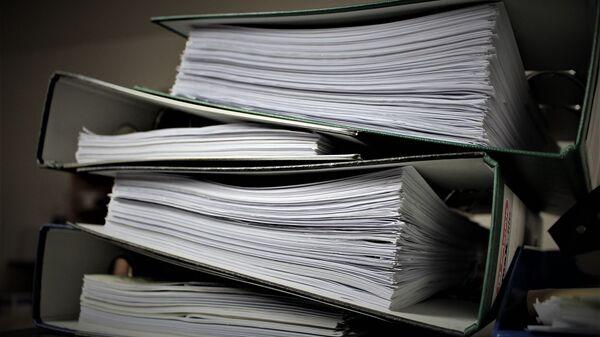Папки с документами, архивное фото - Sputnik Беларусь