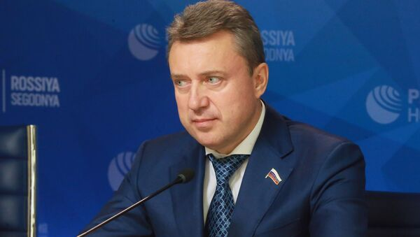Председатель Постоянной комиссии Парламентской Ассамблеи ОДКБ по вопросам обороны и безопасности Анатолий Выборный - Sputnik Беларусь