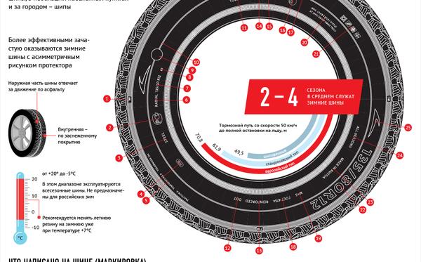 Как выбрать зимние автомобильные шины – рекомендации Sputnik в инфографике - Sputnik Беларусь
