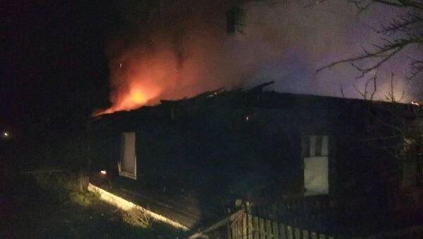 Пожар в Вертилишках - Sputnik Беларусь