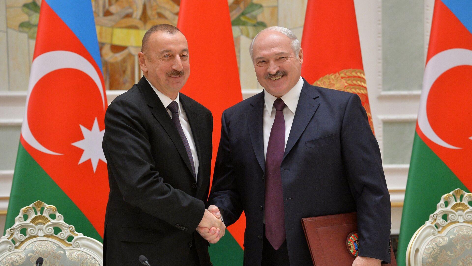 Аляксандр Лукашэнка і Ільхам Аліеў у Мінску - Sputnik Беларусь, 1920, 12.04.2021