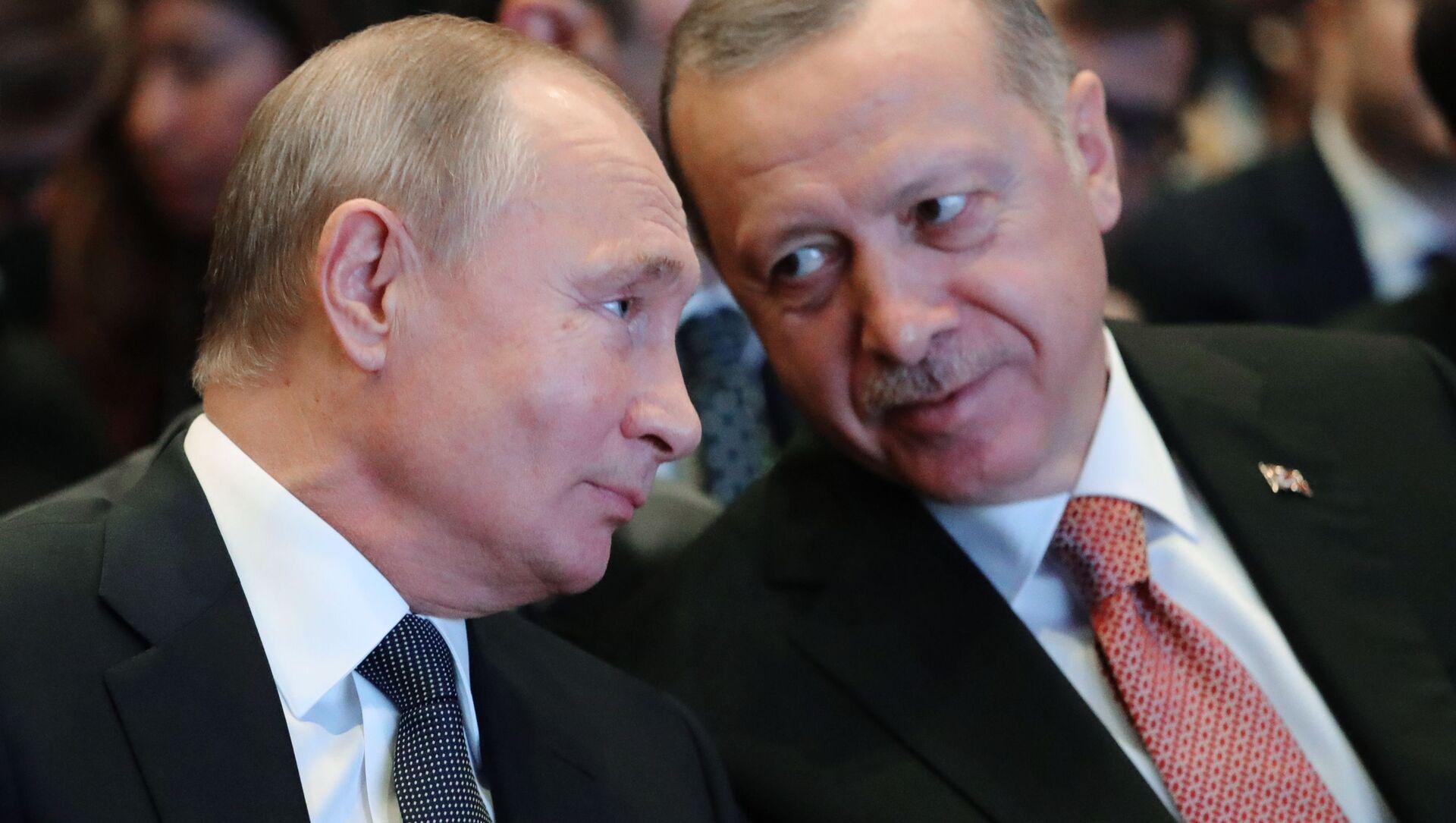 Президент России Владимир Путин и президент Турции Реджеп Тайип Эрдоган - Sputnik Беларусь, 1920, 20.05.2021